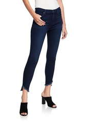 7 For All Mankind Gwenevere Angle Frayed Cropped Jeans