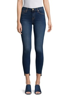 7 For All Mankind Gwenevere Asymmetrical Ankle Jeans