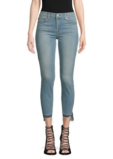 7 For All Mankind Gwenevere Cropped Step-Hem Skinny Jeans