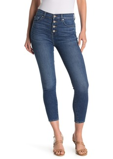 7 For All Mankind Gwenevere Exposed Button Ankle Jeans