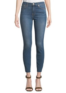 7 For All Mankind Gwenevere Faded Cropped Skinny Jeans