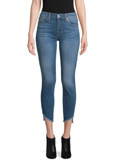 7 For All Mankind Gwenevere Frayed-Cuff Cropped Jeans