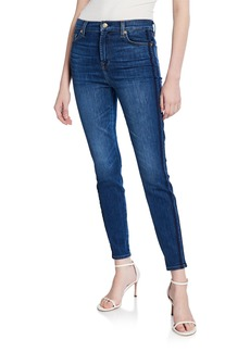 7 For All Mankind Gwenevere High-Rise Side-Striped Ankle Jeans