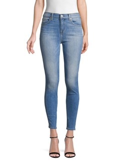 7 For All Mankind Gwenevere High-Waist Ankle Skinny Jeans