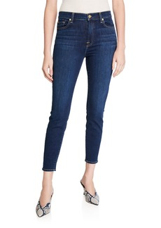 7 For All Mankind Gwenevere High-Waist Cropped Jeans with Squiggle