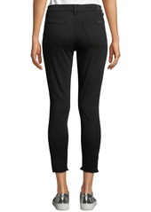 7 For All Mankind Gwenevere High-Waist Raw Step-Hem Jeans