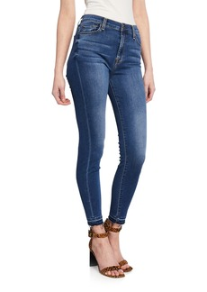 7 For All Mankind Gwenevere High-Waist Released-Hem Ankle Jeans