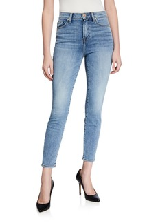7 For All Mankind Gwenevere High-Waist Skinny Ankle Jeans