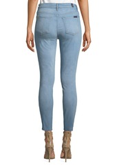 7 For All Mankind Gwenevere High-Waist Step-Hem Jeans
