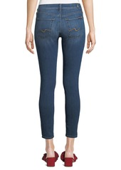 7 For All Mankind Gwenevere Knee-Hole Skinny Ankle Jeans