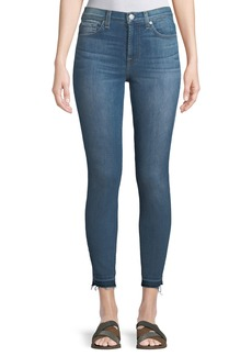 7 For All Mankind Gwenevere Medium-Wash Released-Hem Jeans