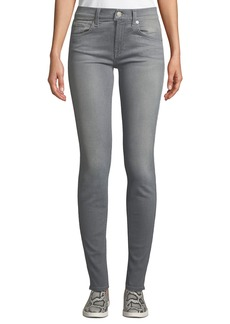 7 For All Mankind Gwenevere Mid-Rise Ankle Jeans  Gray