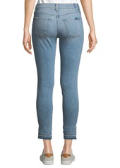 7 For All Mankind Gwenevere Mid-Rise Released Step-Hem Jeans