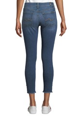 7 For All Mankind Gwenevere Raw Angled-Ankle Jeans