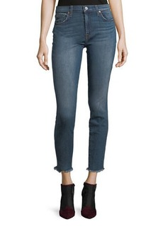 7 For All Mankind Gwenevere Raw-Edge Ankle Jeans