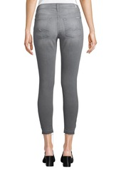 7 For All Mankind Gwenevere Released-Hem Skinny Ankle Jeans - Squiggle Pocket  Gray
