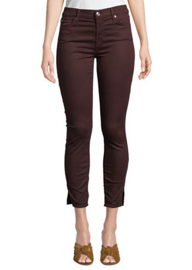 7 For All Mankind Gwenevere Side-Split Ankle Jeans