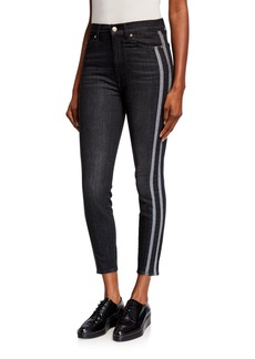7 For All Mankind Gwenevere Side Stripe High Waist Ankle Jeans