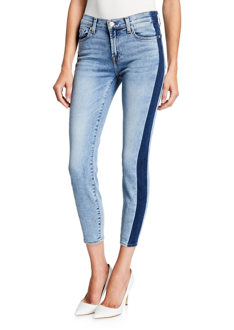 7 For All Mankind Gwenevere Side-Stripe Skinny Ankle Jeans