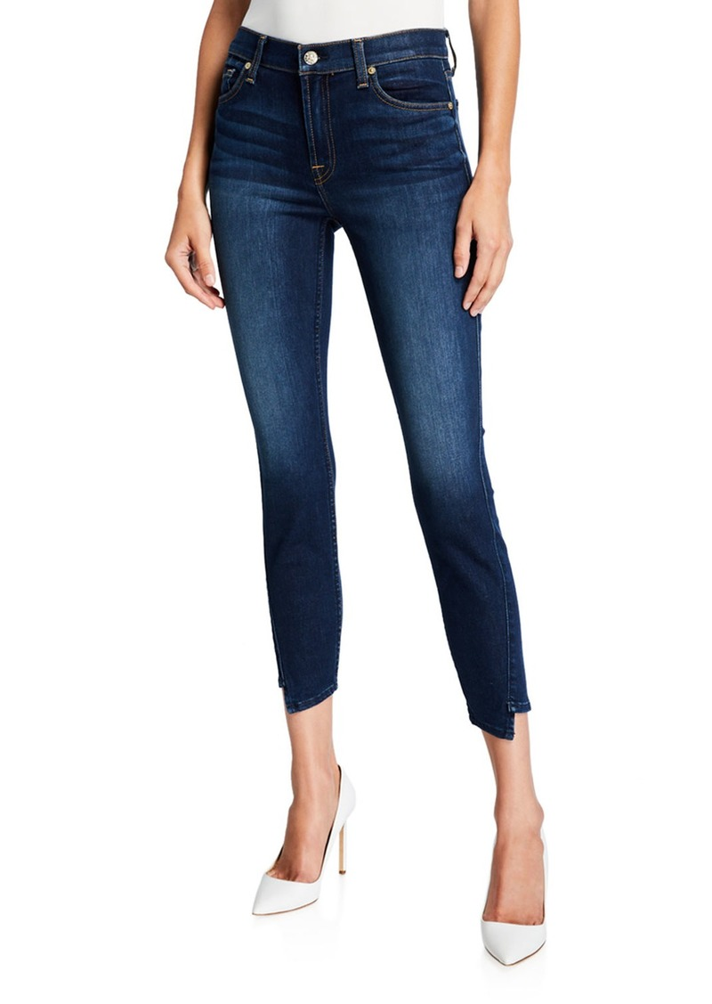 7 For All Mankind Gwenevere Spliced Hem Skinny Ankle Jeans