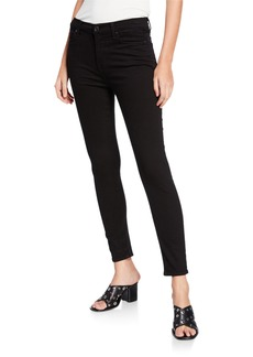 7 For All Mankind Gwenevere Squiggle Mid-Rise Skinny Jeans