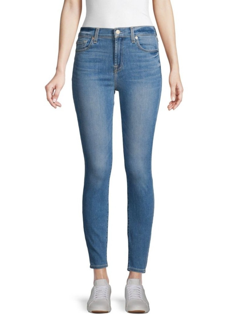 7 For All Mankind Gwenvere High-Rise Skinny Ankle Jeans