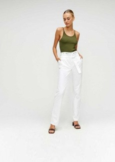 7 For All Mankind Half Belted Paperbag Jean with Studs in Prince Street