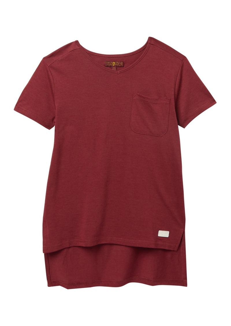 7 For All Mankind High-Low T-Shirt (Big Girls)