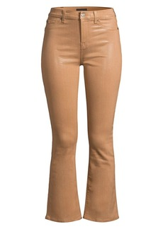 7 For All Mankind High-Rise Coated Kick Flare Jeans