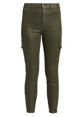 7 For All Mankind High-Rise Coated Skinny Cargo Pants