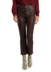 7 For All Mankind High-Rise Coated Slim Kick Jeans