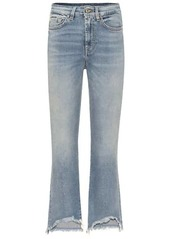 7 For All Mankind Luxe Vintage high-rise cropped bootcut jeans