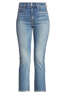 7 For All Mankind High-Rise Cropped Straight Jeans