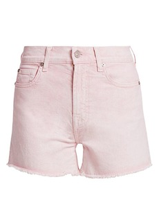 7 For All Mankind High-Rise Cut-Off Fray Hem Denim Shorts