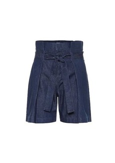 7 For All Mankind High-rise denim shorts