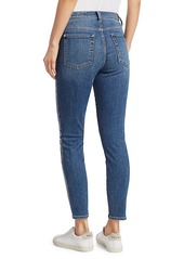 7 For All Mankind High-Rise Foil Racing Stripe Ankle Skinny Jeans