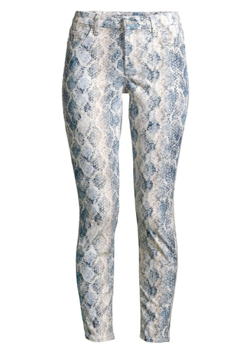 7 For All Mankind High-Rise Python Ankle Skinny Jeans