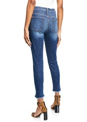 7 For All Mankind High-Rise Raw-Hem Jeans