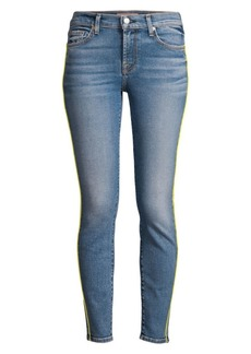 7 For All Mankind High-Rise Side-Stripe Skinny Ankle Jeans