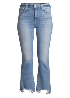 7 For All Mankind High Rise Slim Kick Flare Cropped Jeans