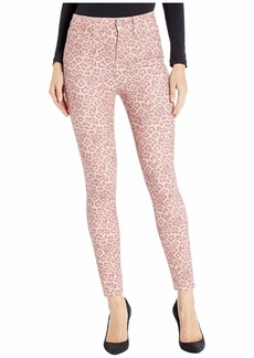 7 For All Mankind High-Waist Ankle Skinny Faux Pocket in Rose Photo Leopard