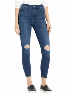 7 For All Mankind High-Waist Ankle Skinny in Authentic Mystic