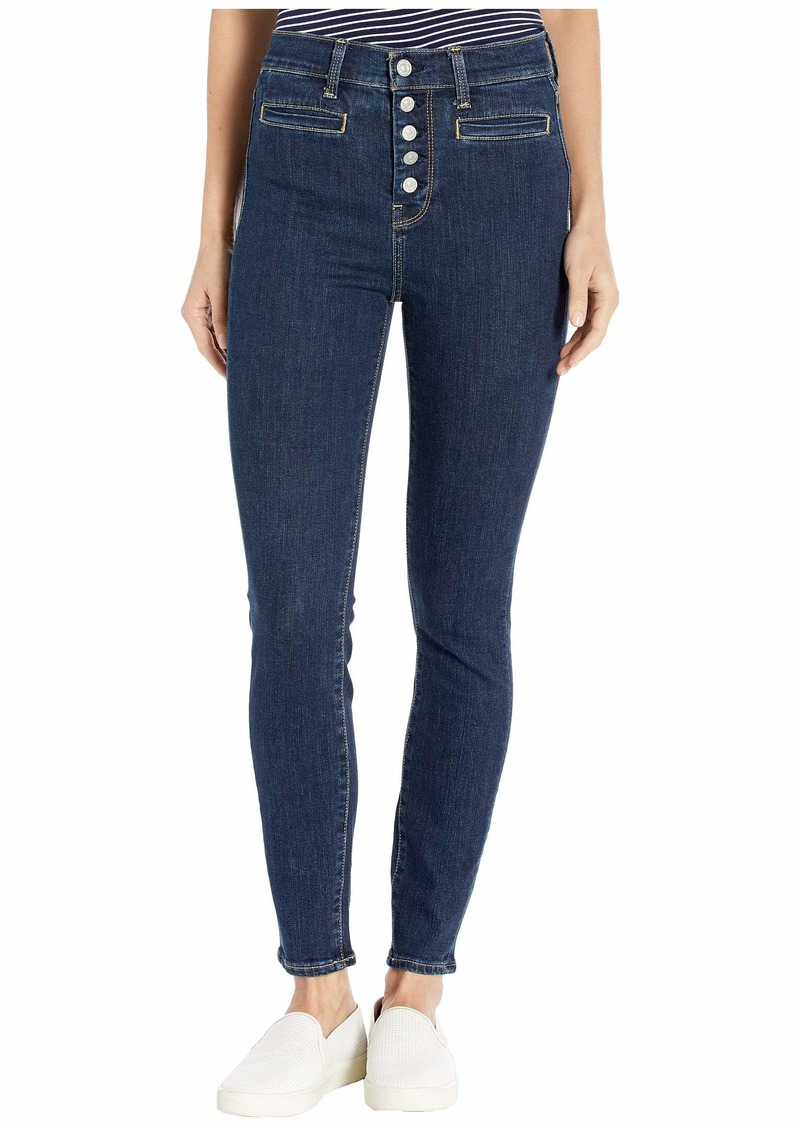 7 For All Mankind High-Waist Ankle Skinny in Fate Rinsed