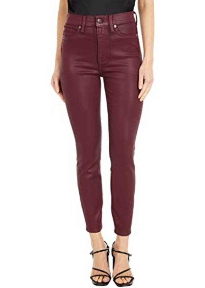 7 For All Mankind High-Waist Ankle Skinny in Merlot Coated