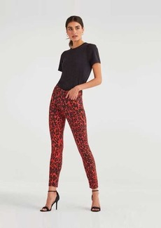 7 For All Mankind High Waist Ankle Skinny in Red Cheetah
