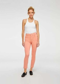 7 For All Mankind High Waist Ankle Skinny in Rose