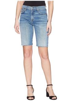 7 For All Mankind High-Waist Bermuda Shorts w/ Cut Off Hem in Desert Oasis 4