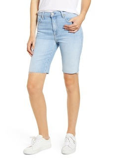 7 For All Mankind High Waist Denim Bermuda Shorts
