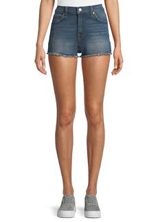 7 For All Mankind High-Waist Distressed Cutoff Shorts