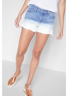 7 For All Mankind High Waist Short with Step Hem in Ocean Breeze